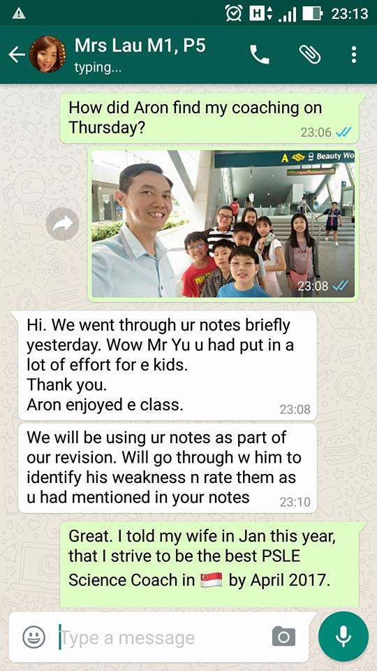 Testimonial from Mrs Lau